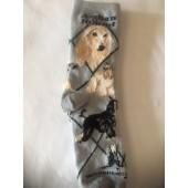 Afghan Socks on Gray Size 9-11