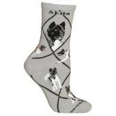 Akita Socks on Gray Size 9-11
