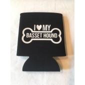 Basset Hound Can Koozie