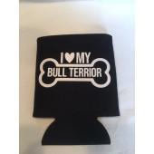 Bull Terrier Can Koozie