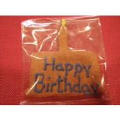 "3"" x 4"" Blue Birthday Cake Bone"