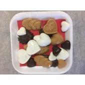 Valentine Carob, Yogurt and Peanut Butter Candy Tray