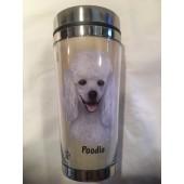 Poodle White Tumbler